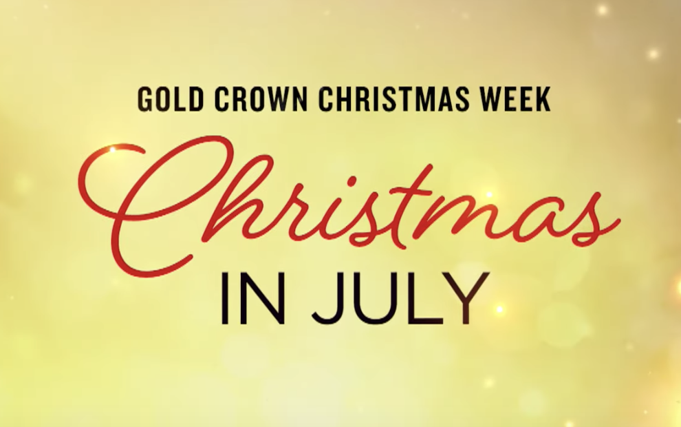 Hallmark Christmas In July Logo.Hallmark Christmas In July 2019 Tv Schedule Gold Crown